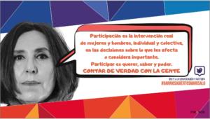 Tweet entrevista a Marisa Lozano Gil, proyecto Barrios Abiertos, ¿de qué hablamos cuando hablamos de participación?, transformación social